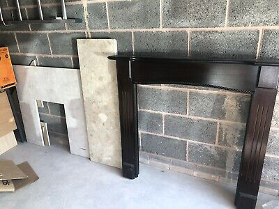 £79.99 • Buy Wooden Fire Place Surround With Marble Back Panel And Hearth Brand New