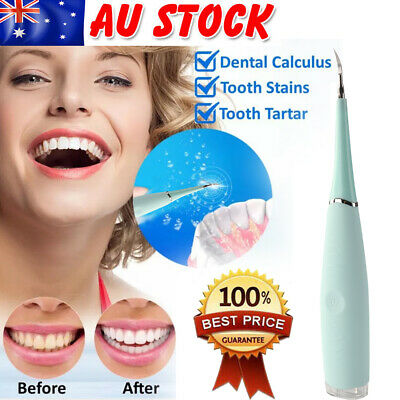 AU21.89 • Buy Electric Sonic Dental Scaler Tartar Calculus Plaque Remover Tooth Stains Tool AU