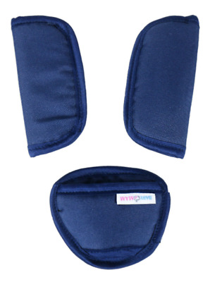 £3.99 • Buy 3 Piece Baby Stroller Car Seat Strap Covers & Crotch Pad Universal Soft Navy