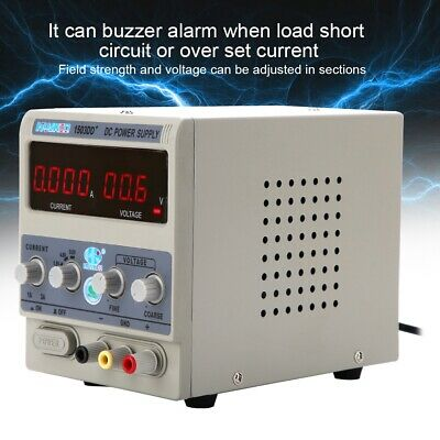 220V 1-3A Accuracy Digital Regulated Power Supply Adjustable DC Power Supply UK • 34.99£