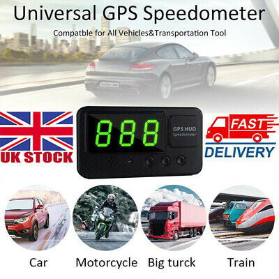 UK Digital GPS Speedometer HUD MPH / KM/h Overspeed Warning For Car Motorcycles • 18.56£