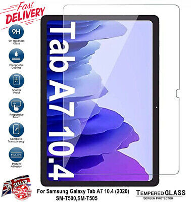 £3.89 • Buy Tempered Glass Screen Protector For Samsung Galaxy Tab A7 2020 10.4  T500 / T505