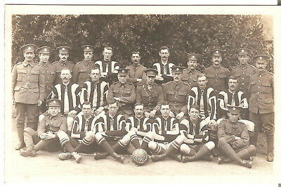 WW1 Royal Engineers Football Team. Bargates, Christchurch, Dorset Publisher. • 18£