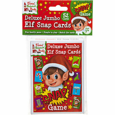 Jumbo Snap Cards - Pack Of 52 Extra Large Naughty Little Elf Playing Cards-Xmas • 3.50£