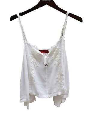 AU19.50 • Buy Tigerlily Top Size 12 White Boho Cami Style Loose Relaxed Fit Summer Designer
