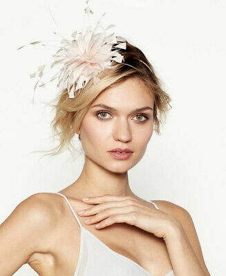 Debut - Light Pink Feather Band Fascinator • 4£