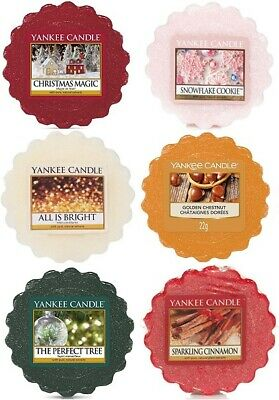 Yankee Candle Wax Melts Tarts 6 Set Winter Festive Inspired Room Scent Fragrance • 9.40£