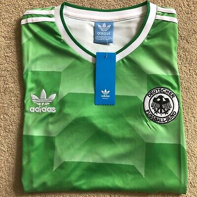 1990 West Germany Retro Shirt Adidas Replica Size Small BNWT • 11.99£