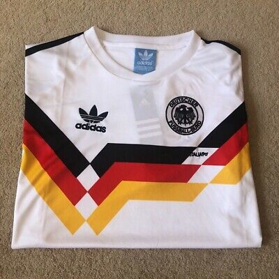 1990 West Germany Home Retro Shirt Adidas Replica Size Small BNWT • 11.99£