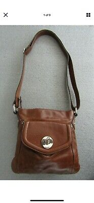 M&S Autograph Tan Leather Hand Bag. Shoulder Or Cross Body. Nice Condition • 9.99£