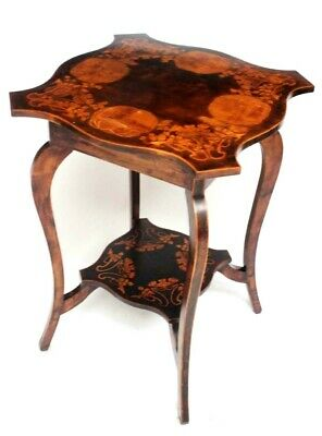 Edwardian Marquetry Inlaid Mahogany Occasional Table  [6575] • 325£