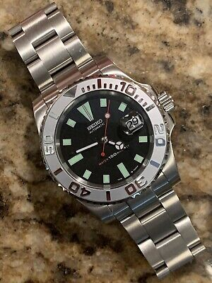 $ CDN230.18 • Buy 40mm Submariner Yachtmaster Dive Watch With Seiko 7002 Dial Mod Oyster Band
