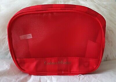 Crabtree And Evelyn Mesh Travel Cosmetic/ Make Up Bag. Red Stripe. New • 2.95£