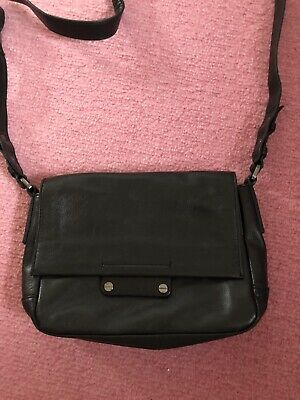 BNWOT M&S Autograph Black Leather Crossbody/Shoulder Bag • 25£