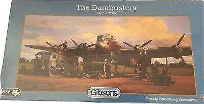 Gibsons 636 Piece Jigsaw Puzzles - The Dambusters - BRAND NEW AND SEALED • 8.99£