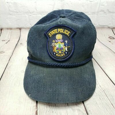 $11.95 • Buy Vintage MAINE STATE POLICE TROOPER BALL CAP Hat Est. Patch