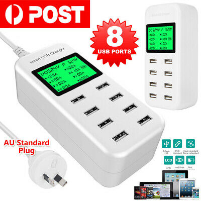 AU31.79 • Buy 8Port Usb Charger Charging Station Usb Wall Charger Power Adapter Charger Hub AU