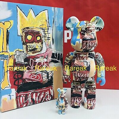 $209.99 • Buy Medicom Bearbrick 2020 Jean-Michel Basquiat #6 Robo 400% + 100% Be@rbrick 2pc