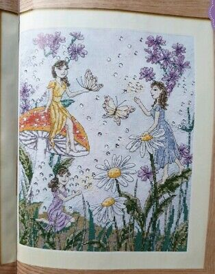 'fairy Garden & Flowers Design' Cross Stitch Chart By Angela Poole (249) • 1£