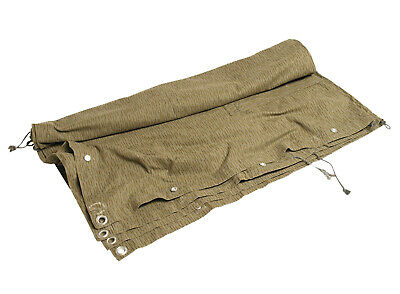 East German Army Stritchtarn Camo Half Tent Shelter Tarpaulin With Pole Grade 1 • 32.99£
