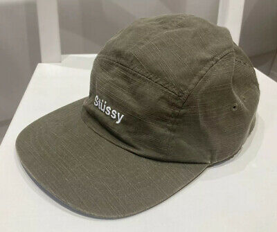 Stussy Reverse Twill Camp Cap - 5 Panel - Olive - One Size • 8.60£