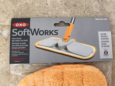 OXO Softworks Floor Duster Microfibre Pad Refill Saffron, Brand New In Packet • 2£