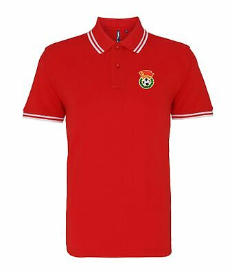 £26 • Buy Russia CCCP Soviet Union Retro Football Tipped Polo Embroidered Crest S-XXXL