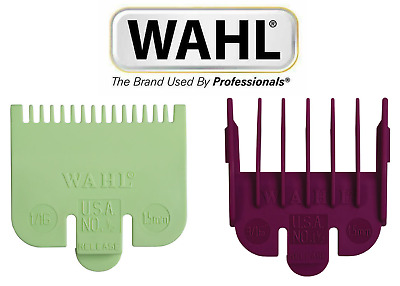 Wahl Clipper Guard Attachment Combs ½ 0.5 (HALF) + 1½ 1.5 (ONE & HALF) • 4.91£