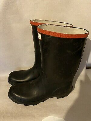 Mens Black And Red Argyll Hunter Boots Wellies Wellingtons Short Size Uk 10.5  • 37£