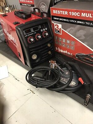 Lincoln Bester 190C Multi Process MIG Welder Package 230v, With 2 Year Warranty • 515£