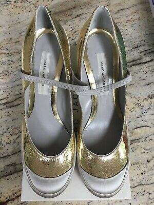 Marc Jacobs Maison Taupe High Heel Mary Janes *Perfect Wedding Shoes* Size 40 • 40£