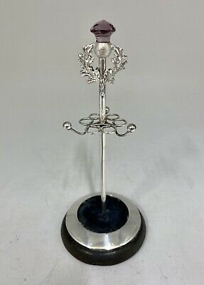 Antique Sterling Silver Hat Pin And Ring Stand Circa 1905 • 295£