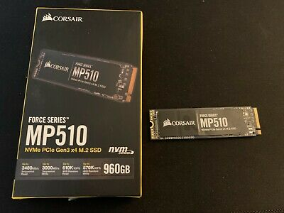 Corsair Force MP510 960GB M.2-2280 NVMe PCIe Internal Near 1TB (SSD) • 53£
