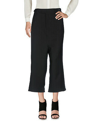 RRP €355 SIBEL SARAL Virgin Wool Drop Crotch Trousers Size M Black Cropped • 19.99£