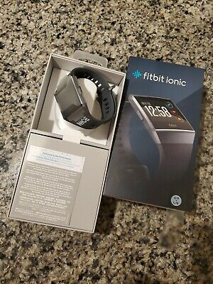 $ CDN97.32 • Buy Fitbit IONIC Smartwatch Bluetooth GPS Activity Tracker (S & L Bands Included)