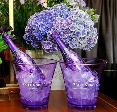 Taittinger Champagne Nocturne Ice Bucket Polycarb Violet Poolside Hot Tub X1  • 65£