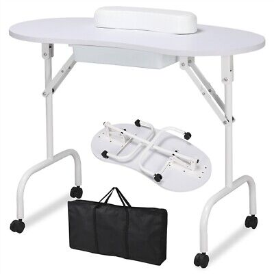 £37.99 • Buy Portable Nail Beauty Table Manicure Workstation With Wrist Rest & Bag White