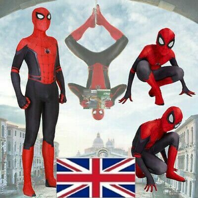 Kids Adult Spider-Man Far From Home Spiderman Costume Zentai Boys Cosplay Suit • 13.99£