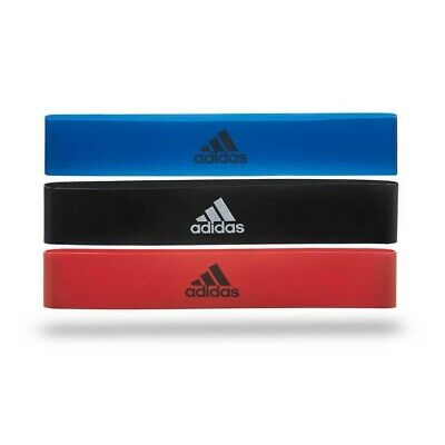 $ CDN29.05 • Buy Adidas Mini Bands Glute Resistance Gym Training Workout Exercise Loops  Set Of 3