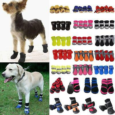 Winter Pet Puppy Dog Shoes Anti-slip Rain Snow Waterproof Boots Bootie Sock Hot • 4.49£