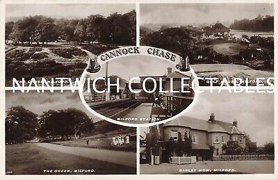 Staffordshire Cannock Chase Five Real Photo Views Railway Station • 6£