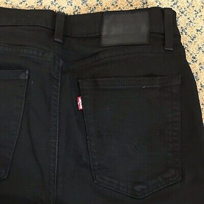 Mens Levi's 519 W30 L30 Jeans Slim Fit Skinny Leg Black Stretch • 7£