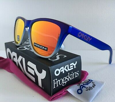 AU125 • Buy Oakley AUTHENTIC Frogskins Splatterfade Sunglasses ✦ OO9245-8254 Pink Blue Fade