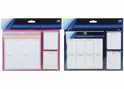 £4.95 • Buy Weekly Planner To Do List Desk Note Pad Meal Plan Home Office 52 Tear Off Sheets