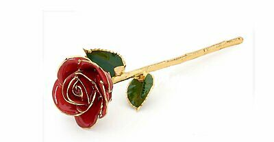 AU59.95 • Buy Gold Rose Flower Present Gift For Her Birthday Love Valentines Day Anniversary