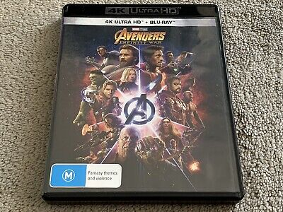 AU14.79 • Buy Avengers Infinity War 4K UHD + Blu Ray 2-Discs VGC Rated M Region B Movie Marvel