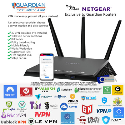 Netgear R7000P Guardian App Router VPN Surfshark Nord And Ivacy Purchase Options • 304£