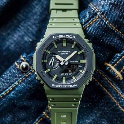 $156 • Buy Casio G-Shock GA-2110SU-3A New Dual-layer Molded Bezel Cover Thin Case Watch