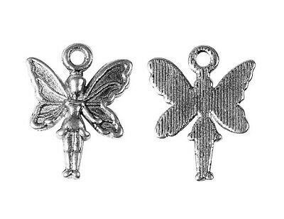 ❤ 15 X Antique Silver Tone FAIRY ANGEL 20mm Charms Findings Jewellery Making UK❤ • 0.99£