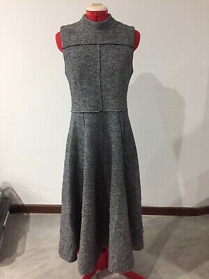 AU20 • Buy ASOS Tall Midi Grey Wool Blend Dress UK 10 Fit Flare